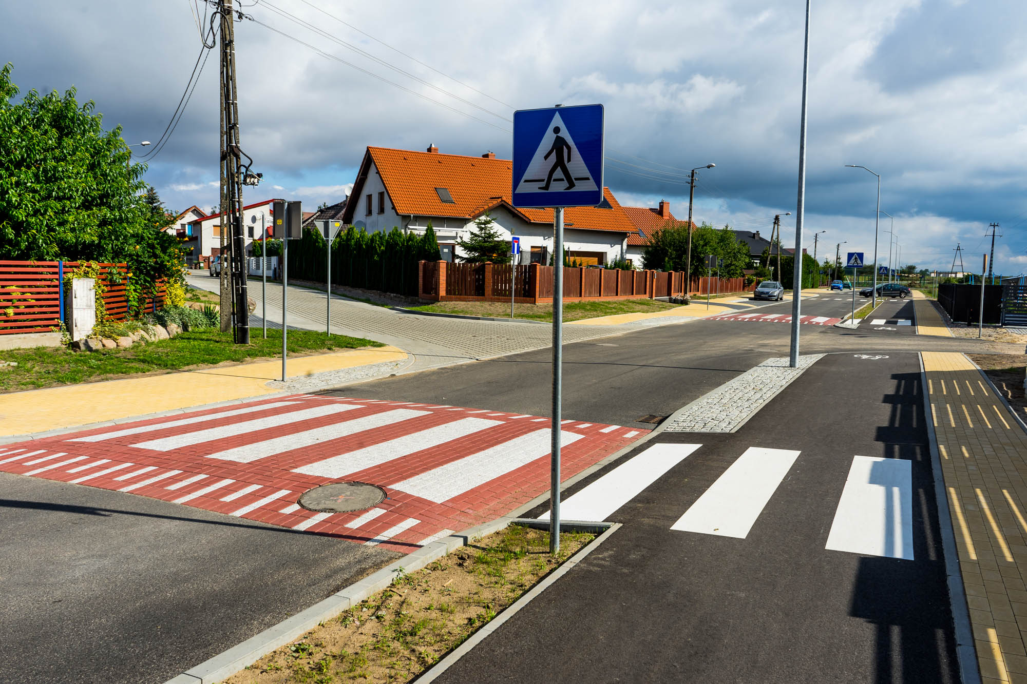 Przejście dla pieszych na ul. Słoneczniej