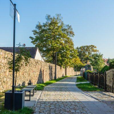 Trakt spacerowy wokół murów obronnych