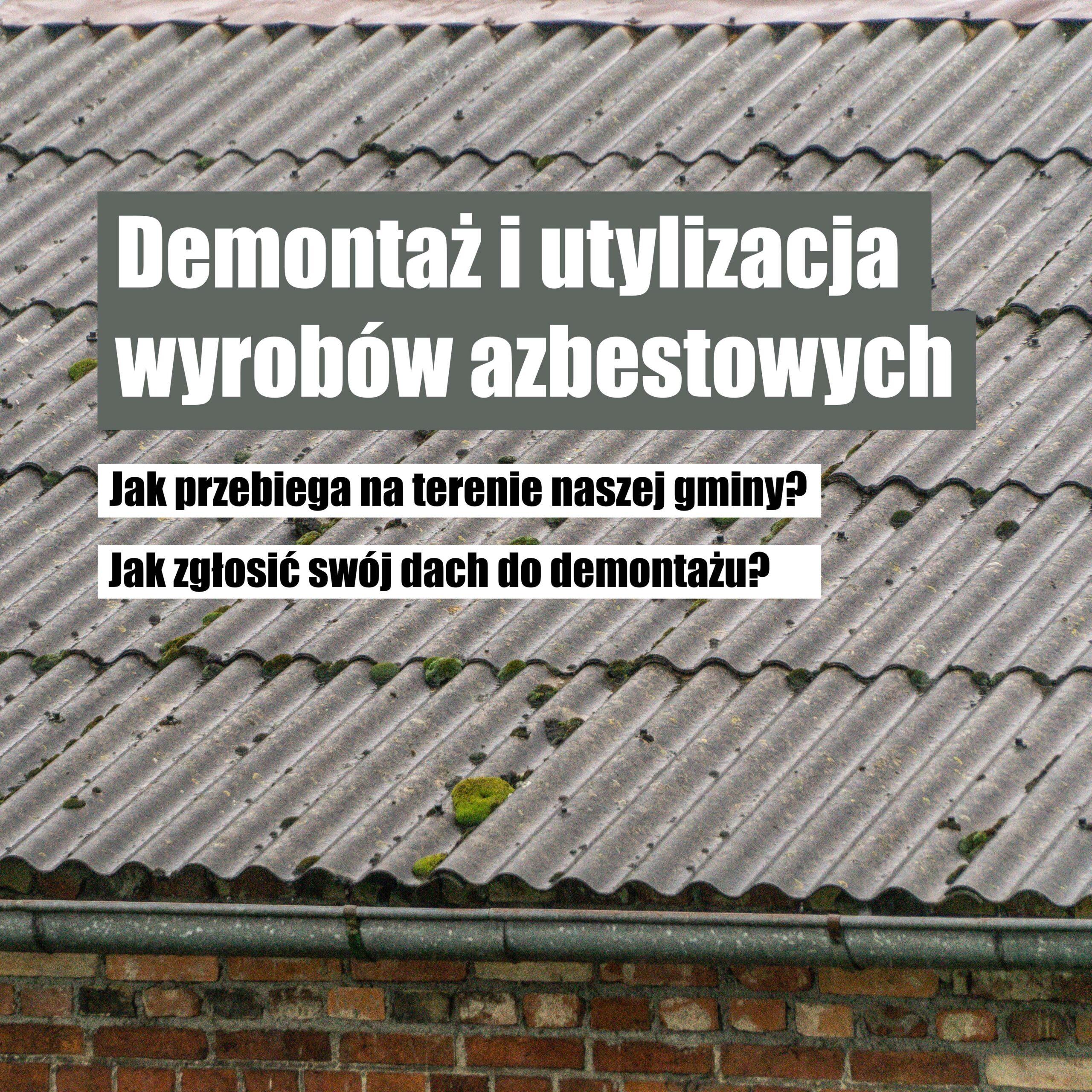 Dach pokryty eternitem