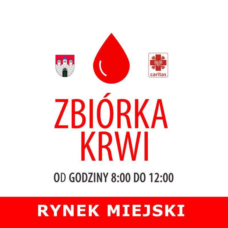 Zbiórka krwi na Rynku Miejskim w Strzelcach Krajeńskich