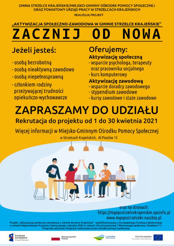 Plakat z informacjami o projekcie.