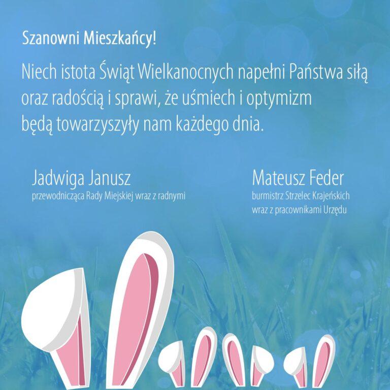 Niech istota Świąt Wielkanocnych napełni Państwa siłą oraz radością i sprawi, że uśmiech i optymizm będą towarzyszyły nam każdego dnia.