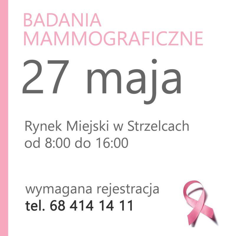 Bezpłatna mammografia - 27 maja 2021