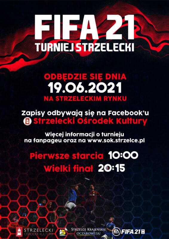 Plakat z informacjami o zapisach i terminie turnieju.