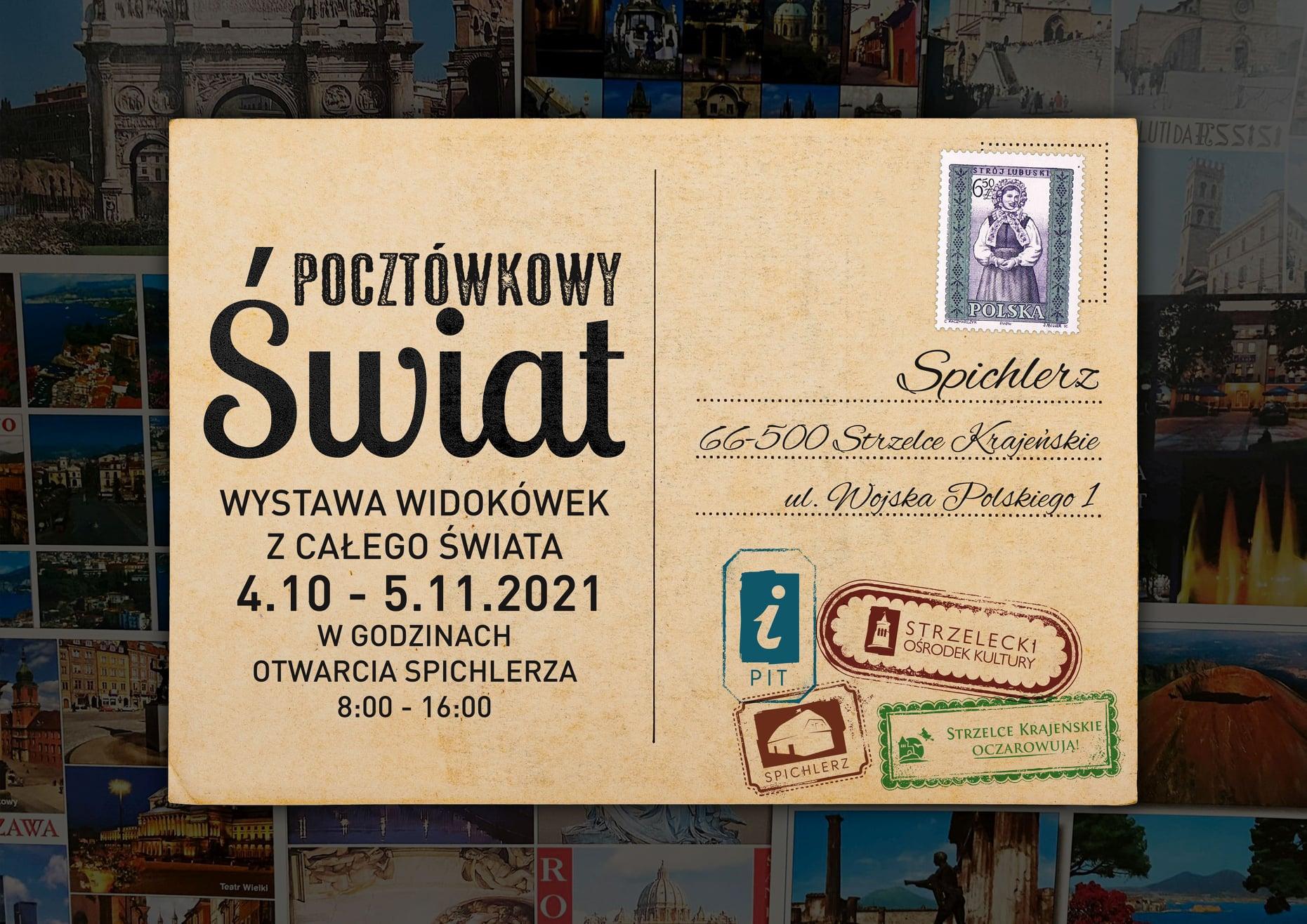 Pocztówkowy Świat - plakat