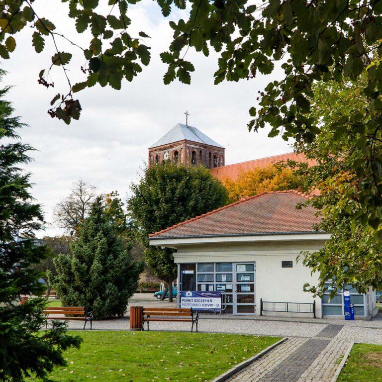Budynek Punktu Szczepień Powszechnych
